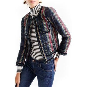 J. Crew Stewart Plaid Quilted Lady Jacket 0